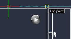 Use CorelCAD smart tools, such as entity snap and guides to work faster