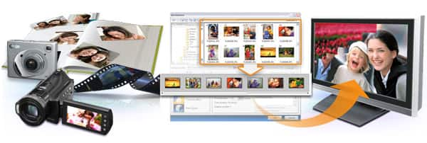 Quickly turn photos and videos into slideshow discs