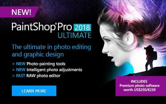 PaintShop Pro 2018 Ultimate Photo Editor Software