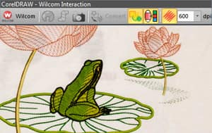 Enhanced Wilcom embroidery and CorelDRAW graphics interaction