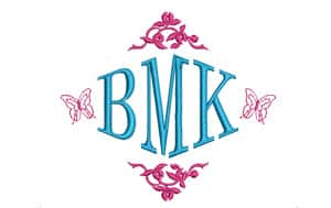 Striking embroidery lettering and monograms